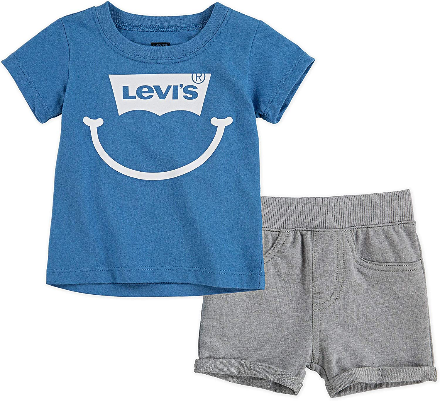 Levi's Baby Boys' Graphic T-Shirt and Shorts 2-Piece Outfit Set