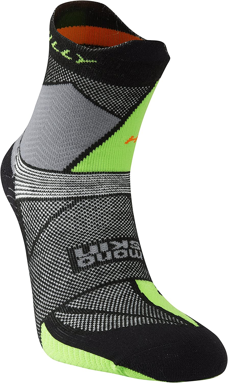 Hilly Mens Ultra Marathon Fresh Running Socks Black//Grey//Green