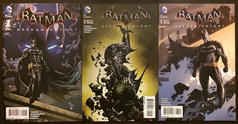 Batman Arkham Knight #1 #2 and #3 Variant 2015 DC Comic Book Incentive Set. Justice League