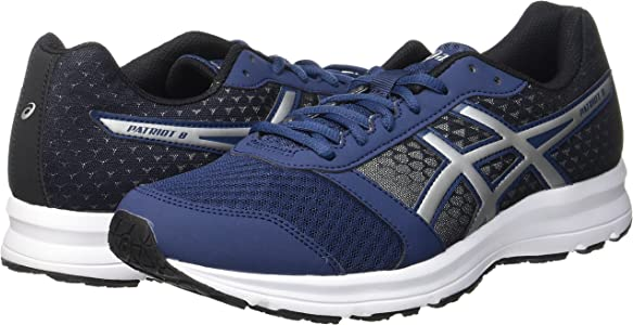 Asics Patriot 8, Zapatillas de running Hombre, Azul (Insignia Blue/Silver/Black), 46.5 EU: Amazon.es: Zapatos y complementos