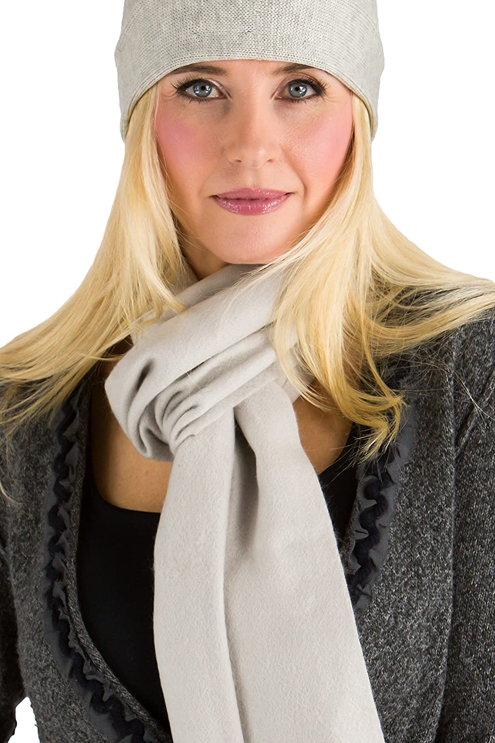 Fishers Finery Womens 100/% Pure Cashmere Winter Scarf; 2-Ply Dehaired WA-03-SF1-017-RED-U