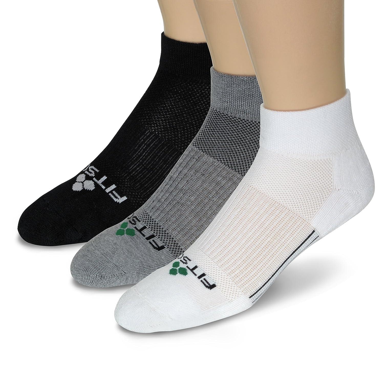 Fitsok CF2 Cushion Quarter Cut Sock, 3-Pack