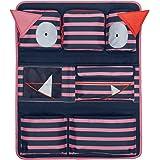 Lässig Car Wrap-to-Go Auto-Utensilientasche Autorücksitzorganizer/Rücksitztasche für Auto oder Kinderzimmer zum Hängen, Navy Korall