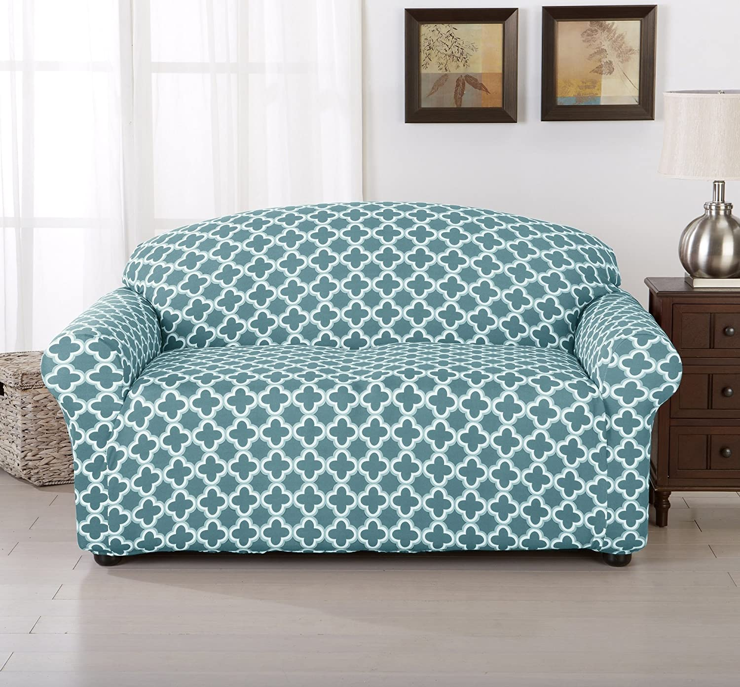 Awesome Turquoise Slipcover sofa