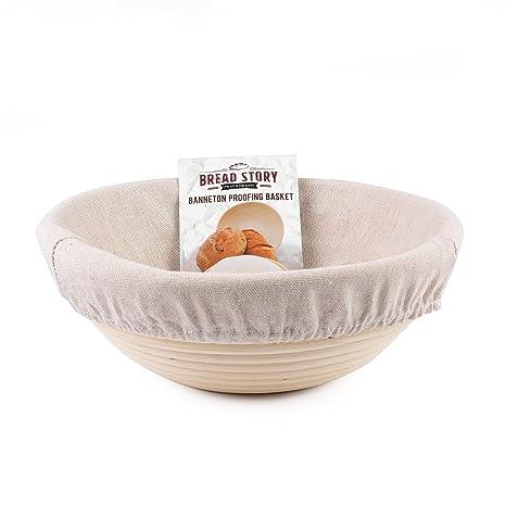 Handmade Unbleached Natural Cane Banneton Proofing Basket Dough Bread Baking Set Home Cookware, Dining & Bar Supplies