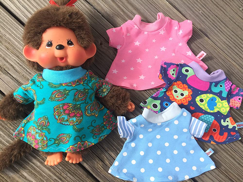 26-28 cm Rosen Sommermode Kleidchen Bär Teddy NEU KLEIDUNG für MONCHICHI Gr