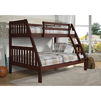 Amazon Com Donco Kids 77 In Twin Over Full Bunk Bed 501746 Brown