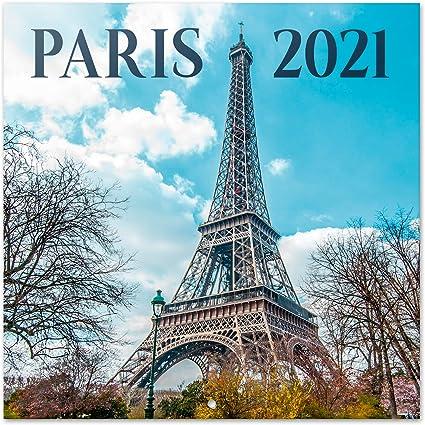 Erik® Calendrier Mural 2020 2021 Paris | 16 Mois, 30x30 cm | De