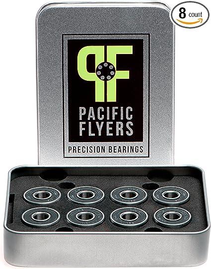 Set of 8 Pacific Flyers Premium ABEC 9 Skateboard Bearings