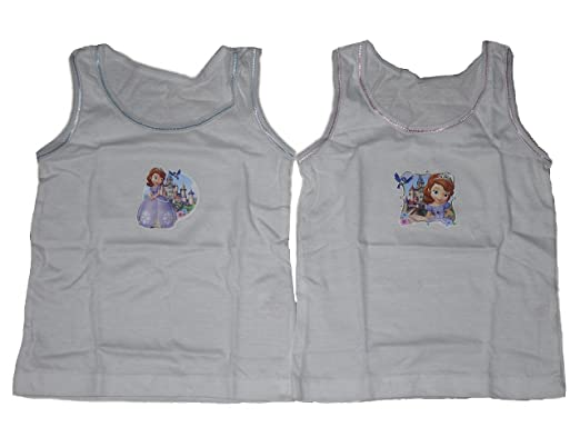Girls Vests Disney Sofia The First 2 Pack