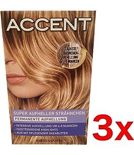 6x Haarfarbe Strähnen Set Accent Permanente Aufhellung Komplett Set
