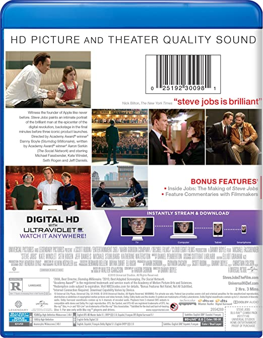b39a005aefc Amazon.com: Steve Jobs [Blu-ray]: Danny Boyle: Movies & TV