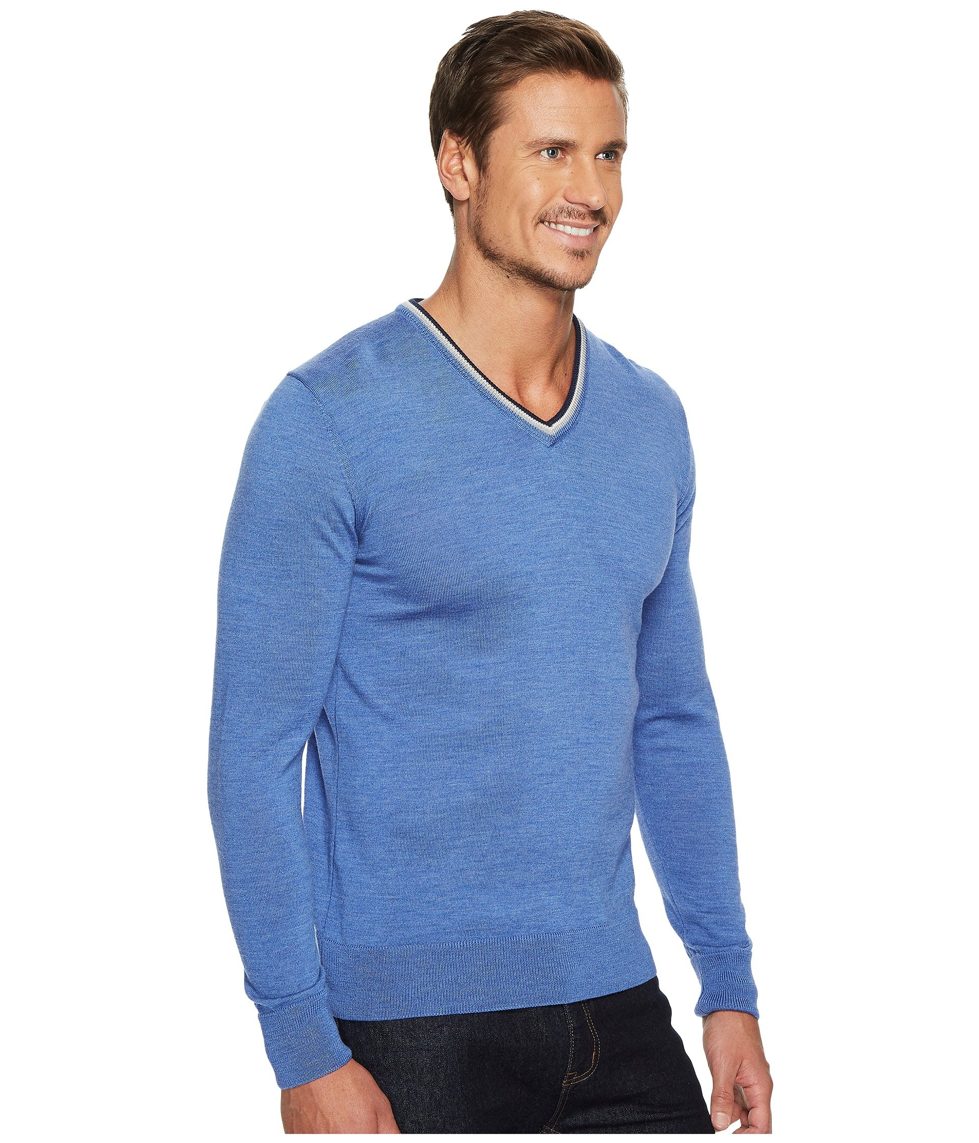 Dale of Norway Kristian masculine sweater, Medium Blue/Off-white/Navy, XX Large by Dale of Norway (Image #5)