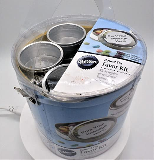 2D x 7//8H 25pc Simplicity Wedding Candy Tin with Clear Lid