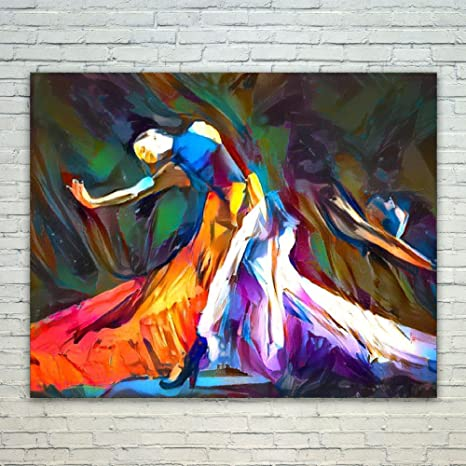 Westlake Art   Flamenco Dance Lover 16x20 Inch Modern Poster Prints Artwork Abstract  Paintings Pictures Printed