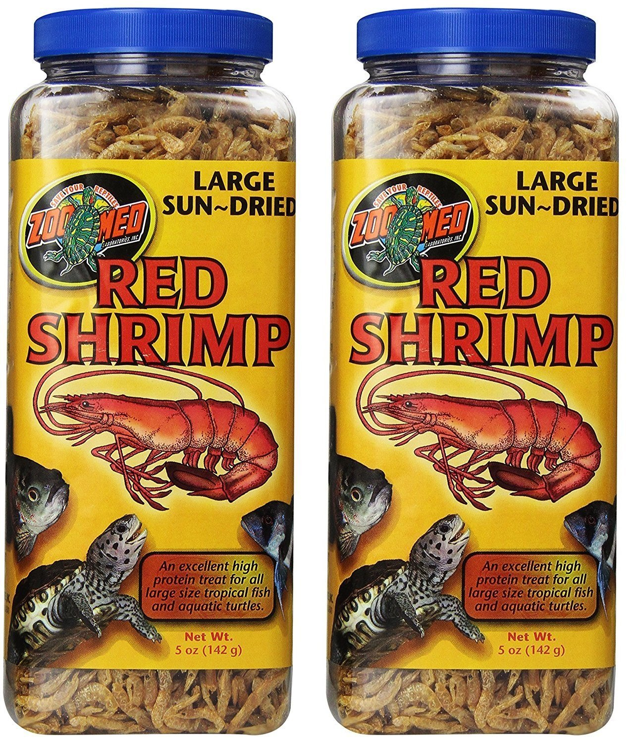 Zoo Med Sun Dried Large Red Shrimp, 5-Ounce ZM162