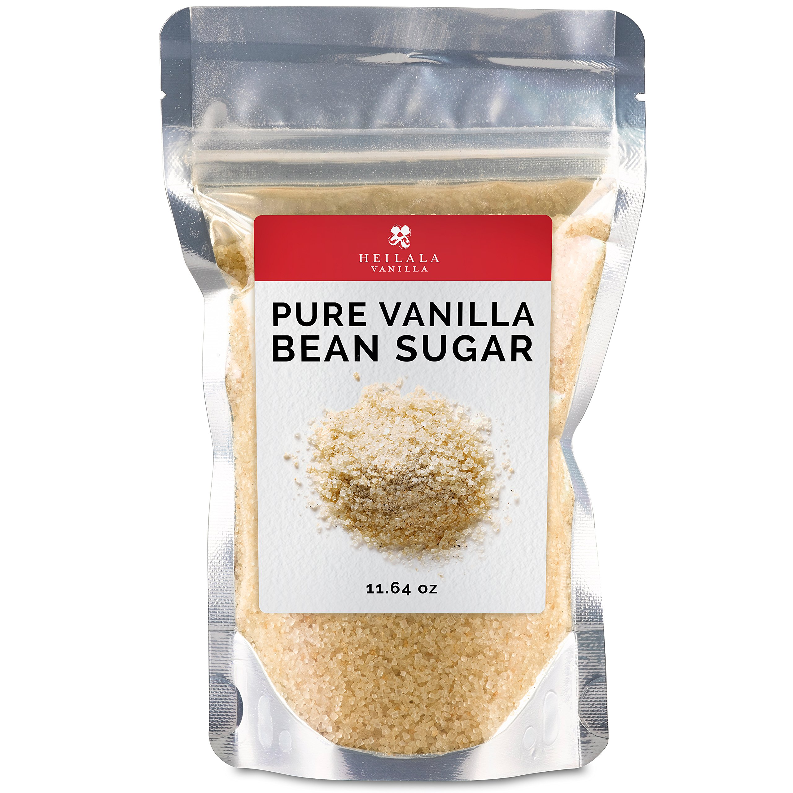 Pure Granulated Vanilla Bean Sugar - Ground Vanilla Pods with Organic Sugar Mix, Award Winning, Hand Picked in Tonga, Perfect for Baking, Dusting over Desserts, Coffee, Tea or Oatmeal
