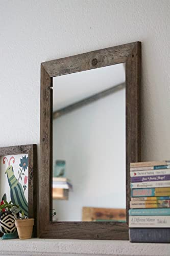rustic wall mirrors unique rustic wall mirror 20 24 vanity bathroom amazoncom