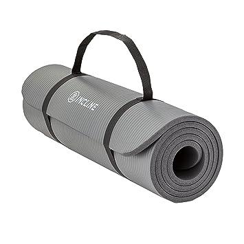 Amazon.com: Alfombrilla de ejercicio extra gruesa con ...