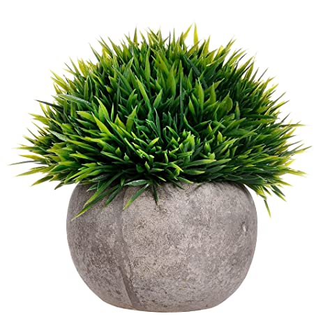 supla 1 pcs mini artificial boxwood topiary grass ball shaped potted plant with pot top plant