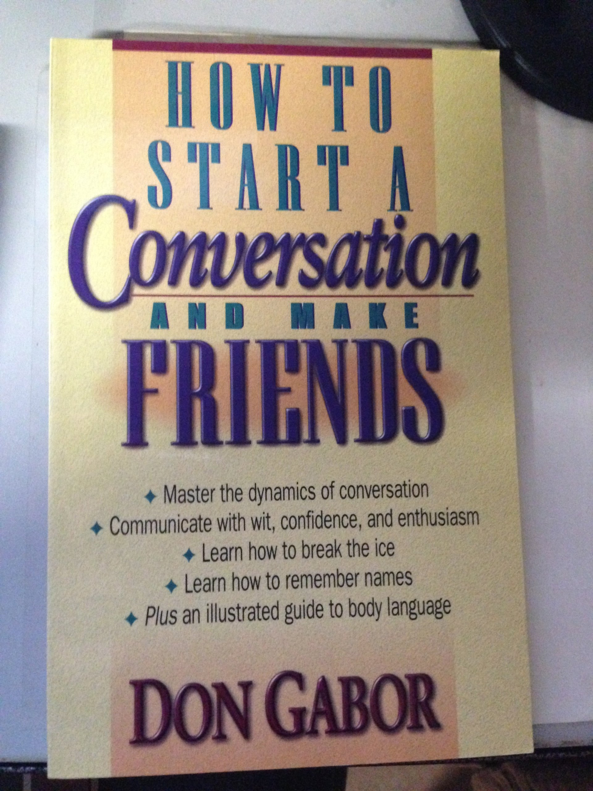 Modestil Factory Outlets das Neueste How to Start a Conversation and Make Friends: Don Gabor ...