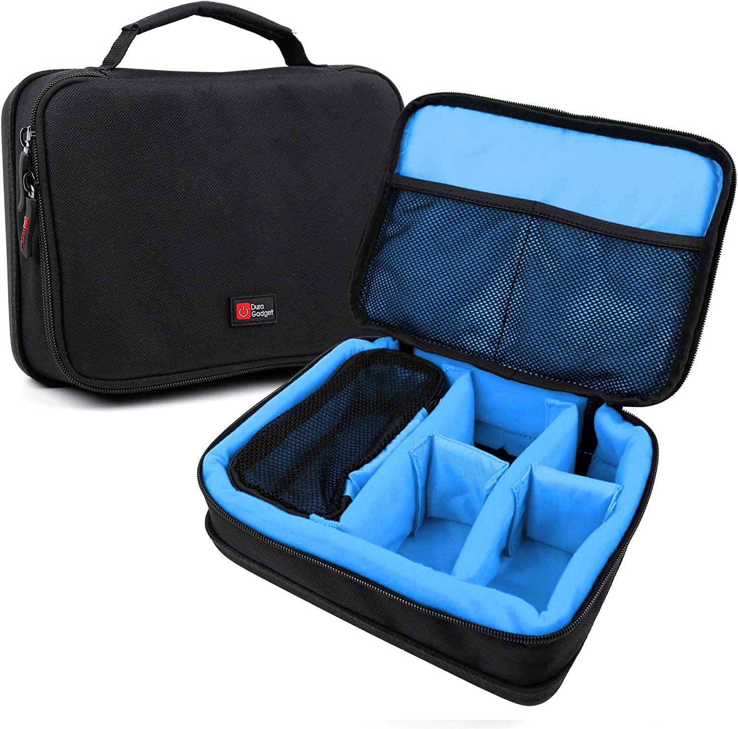 DURAGADGET Protective Black & Blue EVA Carry Case - Compatible with Med-Fit Pro Home Ultrasound Machine