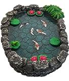 KOI Miniature Pond - Koi Pond for a Fairy Garden. A Miniature Pond for a Miniature Fairy Garden and Enchanted Garden Accessories by GlitZGlam