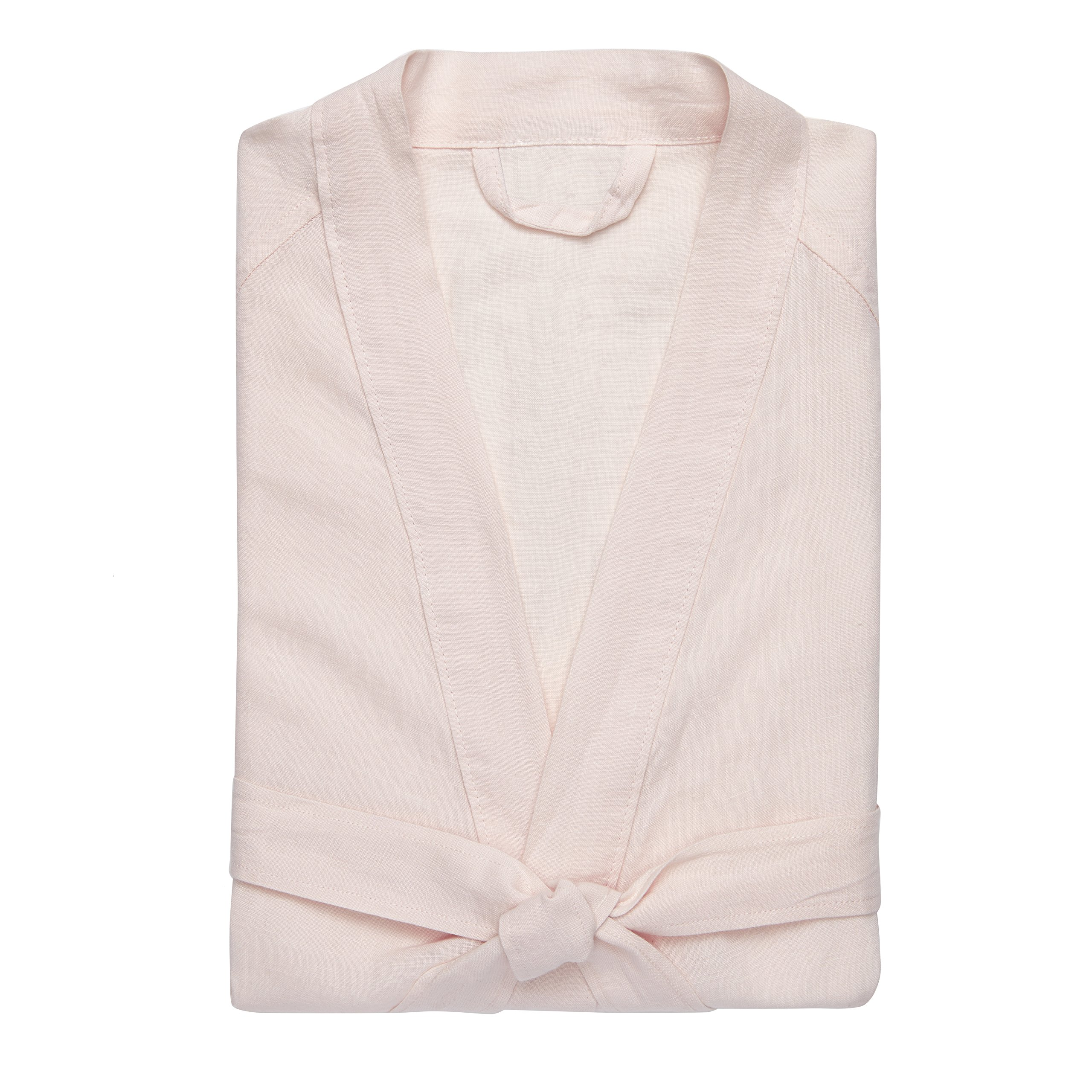 Kassatex Lino Bathrobe S/M, Women's Small/Medium, Powder Pink