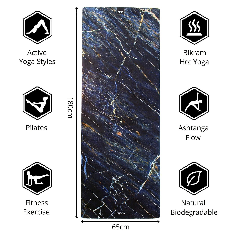 Plyopic Esterilla de Yoga | Antideslizante Colchoneta/Toalla Natural y Ecológica | Ideal para Yoga, Pilates, Ejercicio, Fitness, Hot o Bikram