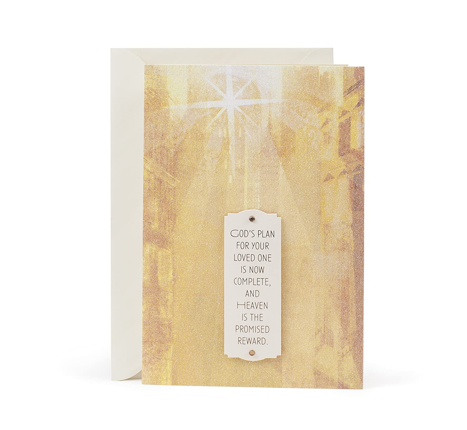 Amazon Hallmark Mahogany Sympathy Greeting Card Light