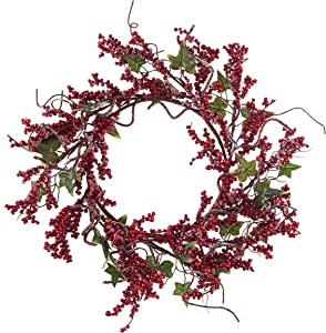 C&F Home Plastic Large Frosted Berry Wreath, 15-in.