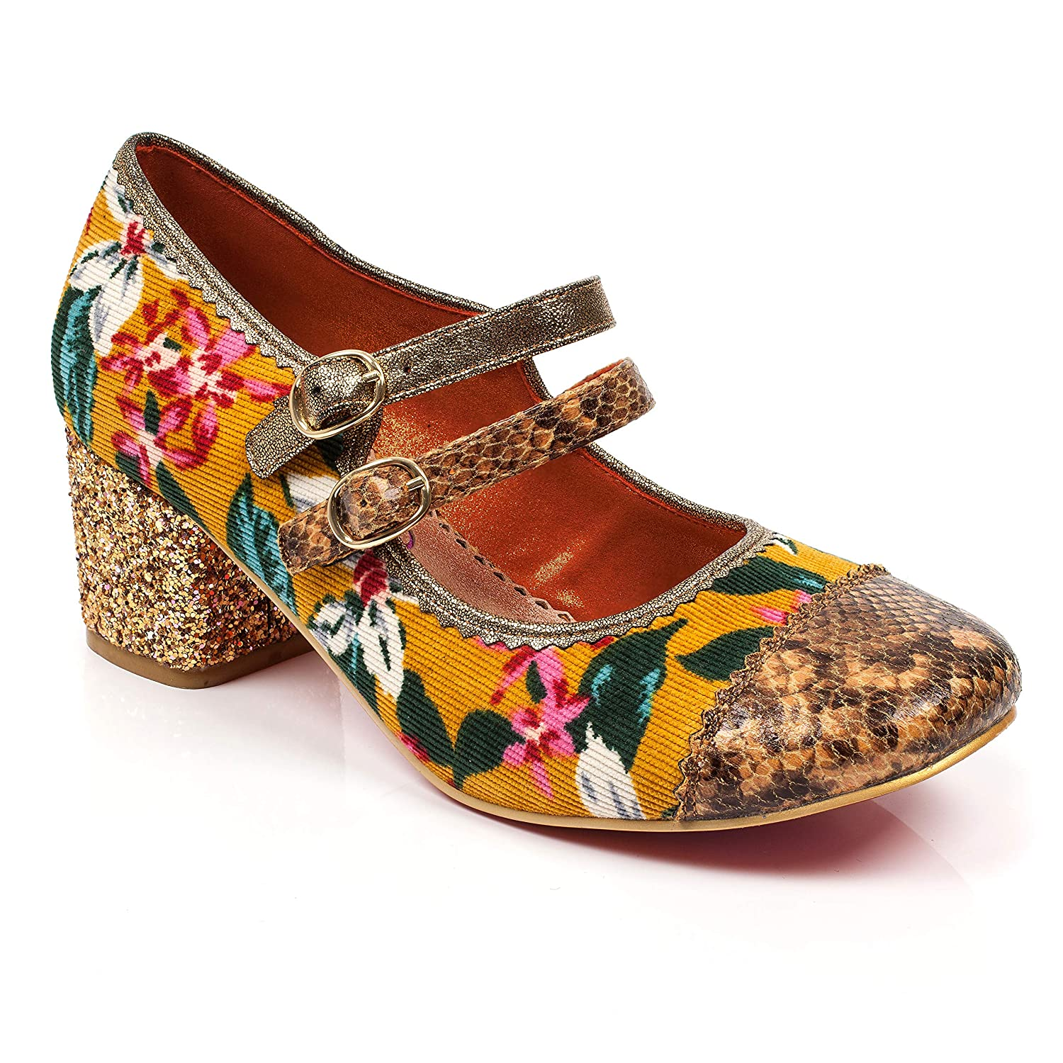 Poetic Licence by Irregular Choice Mini MOD, Mary Jane Donna  Giallo (Mustard M)