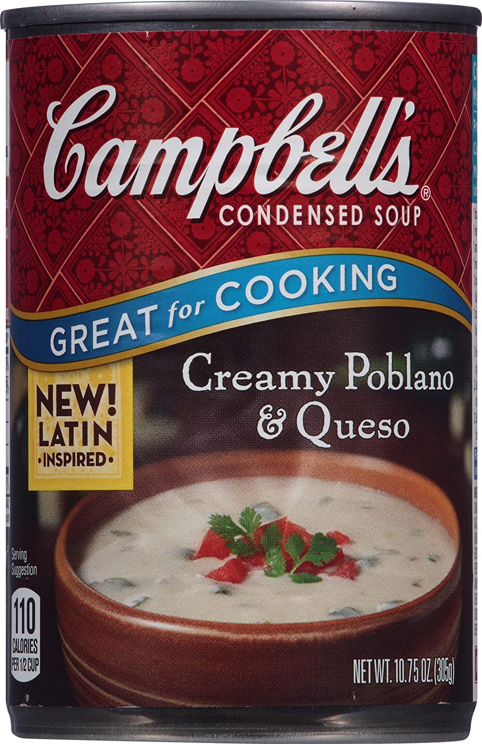 Campbell's Condensed Soup, Creamy Poblano & Queso, 10 75 Ounce (Pack of 12)
