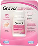 Gravol Easy To Swallow 80 Tablets Filmkote