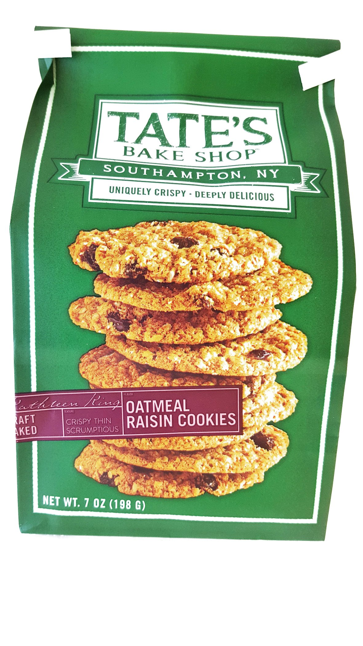 Tate's Bake Shop All Natural Cookie, Oatmeal Raisin, 12Count (Pack Of 12) by Tate's Bake Shop