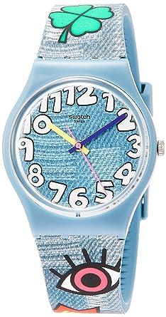 Swatch Reloj Analógico para Hombre de Cuarzo con Correa en Silicona GS155: Amazon.es: Relojes