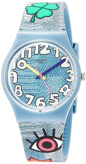 Swatch Reloj Analógico para Hombre de Cuarzo con Correa en Silicona GS155   Amazon.es  Relojes 8fe2dda64a5e