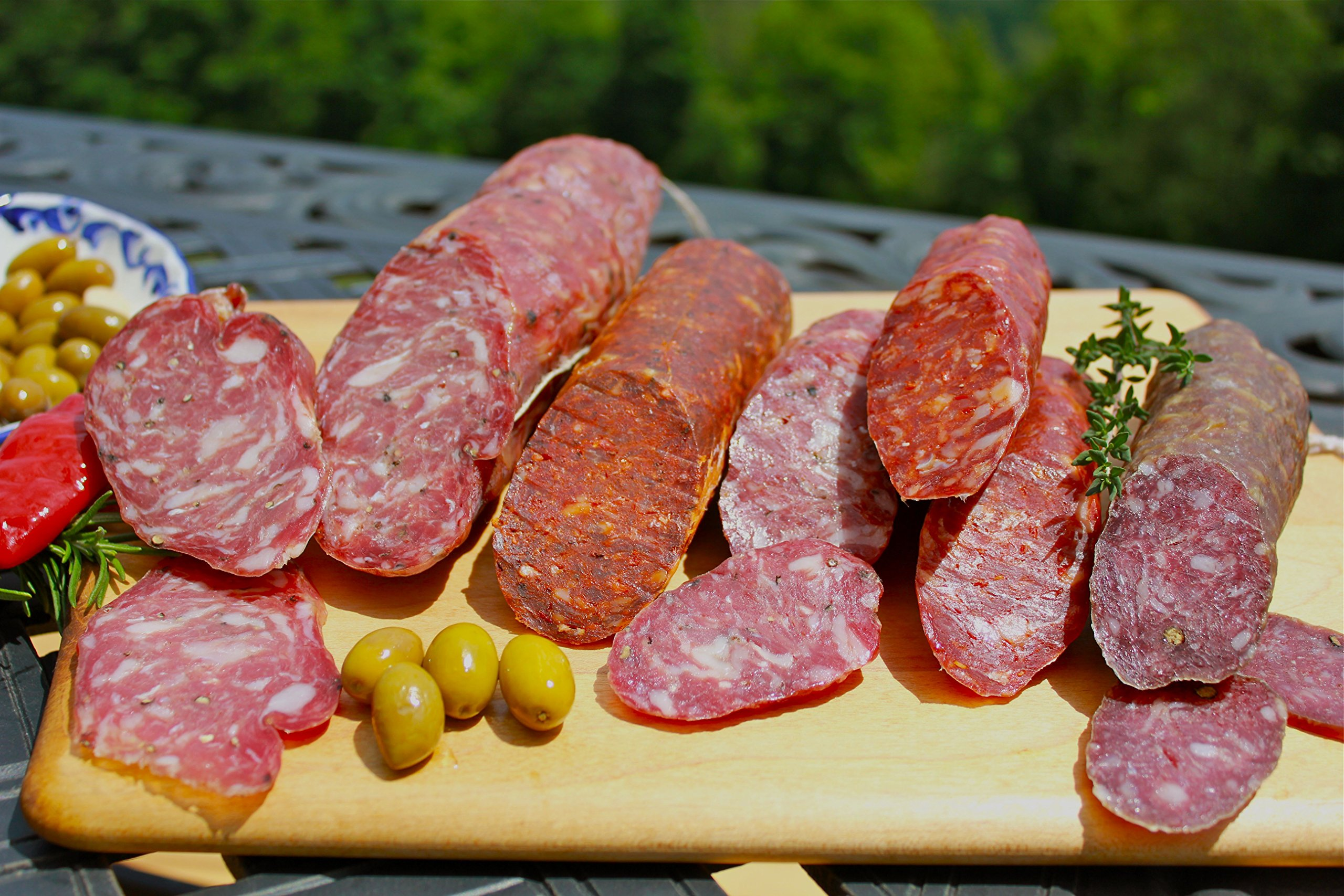 Dry cured Italian Sausage Sampler- 5 sticks 6-14 oz each