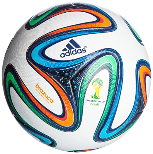 9 opinioni per adidas G73617 Brazuca Palla Calcio, Multicolore (White-Night Blue-Multicolor),