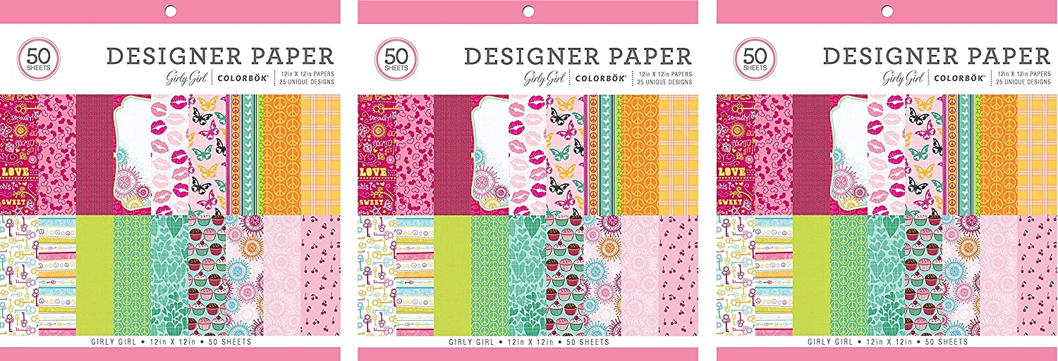 assorted colors Bright Ideas ColorBok Designer Paper Pad 12 x 12