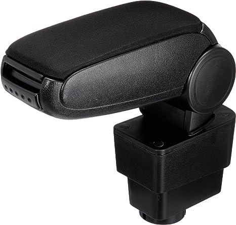 Bracciolo centrale nero in tessuto con vano portaoggetti per Fiat Punto Evo dal 2009 in poi