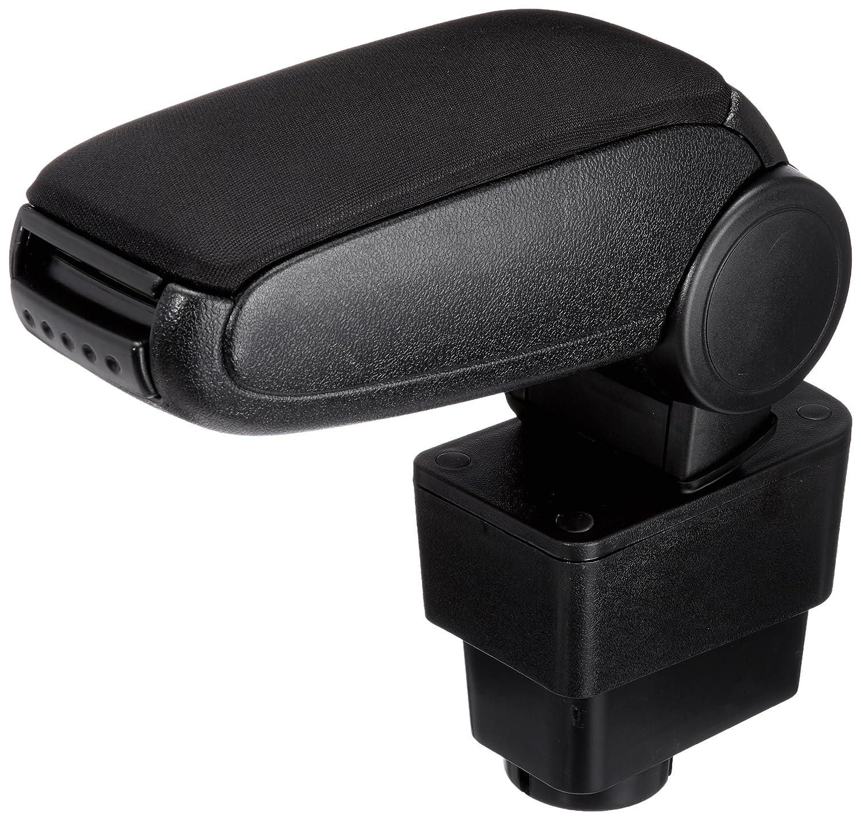 [pro.tec] Accoudoir central - avec compartiment - rembourré - cuir-synthétique - noir avec des coutures noirs
