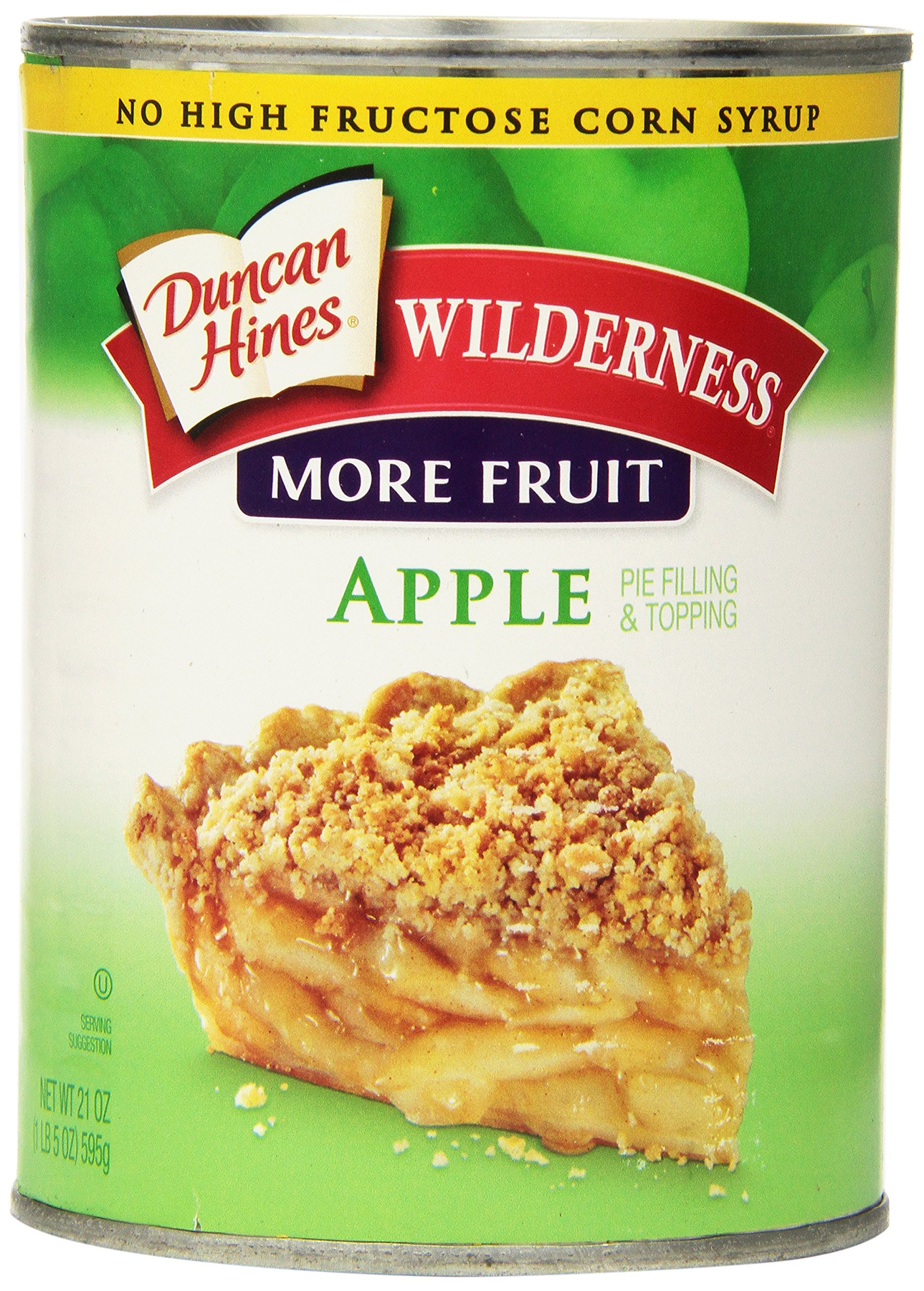 Wilderness More Fruit Pie Filling & Topping, Apple, 21 Ounce (Pack of 12)