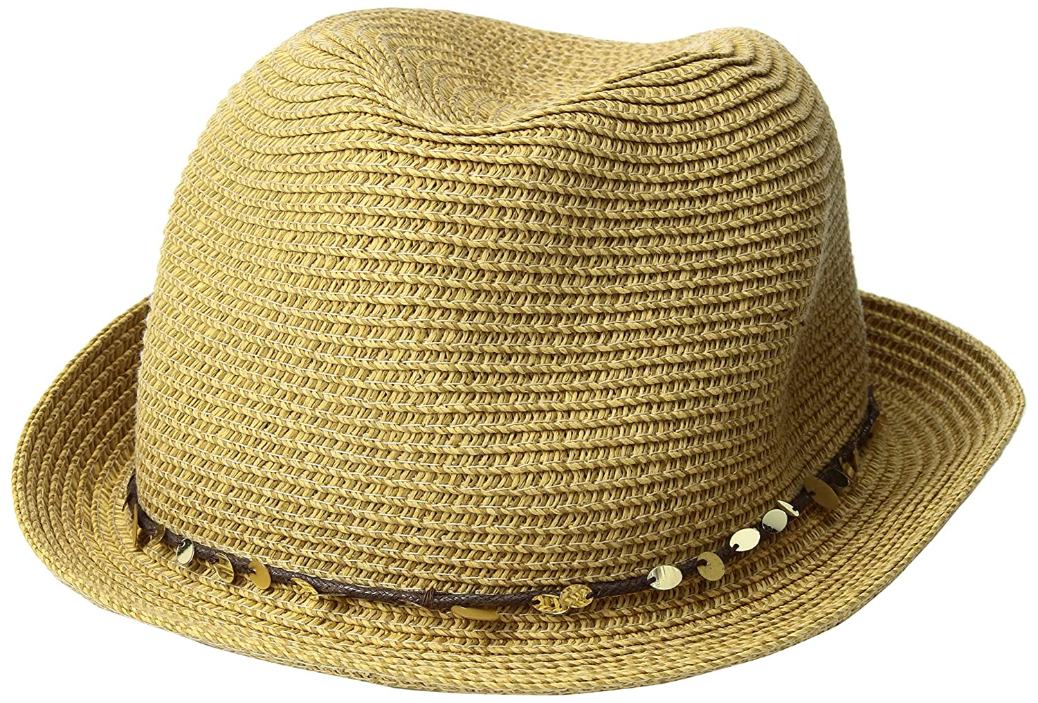 f2f43c3d2f7 Tommy Bahama Women s Sequins Paper Braid Fedora Hat