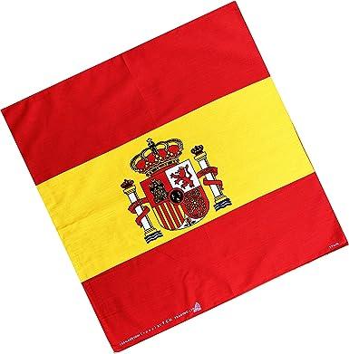 Bandana, pañuelo de bandera de España: Amazon.es: Ropa y accesorios