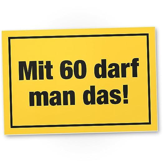 DankeDir!. con 60 años Debe Man el Regalo - Letrero ...