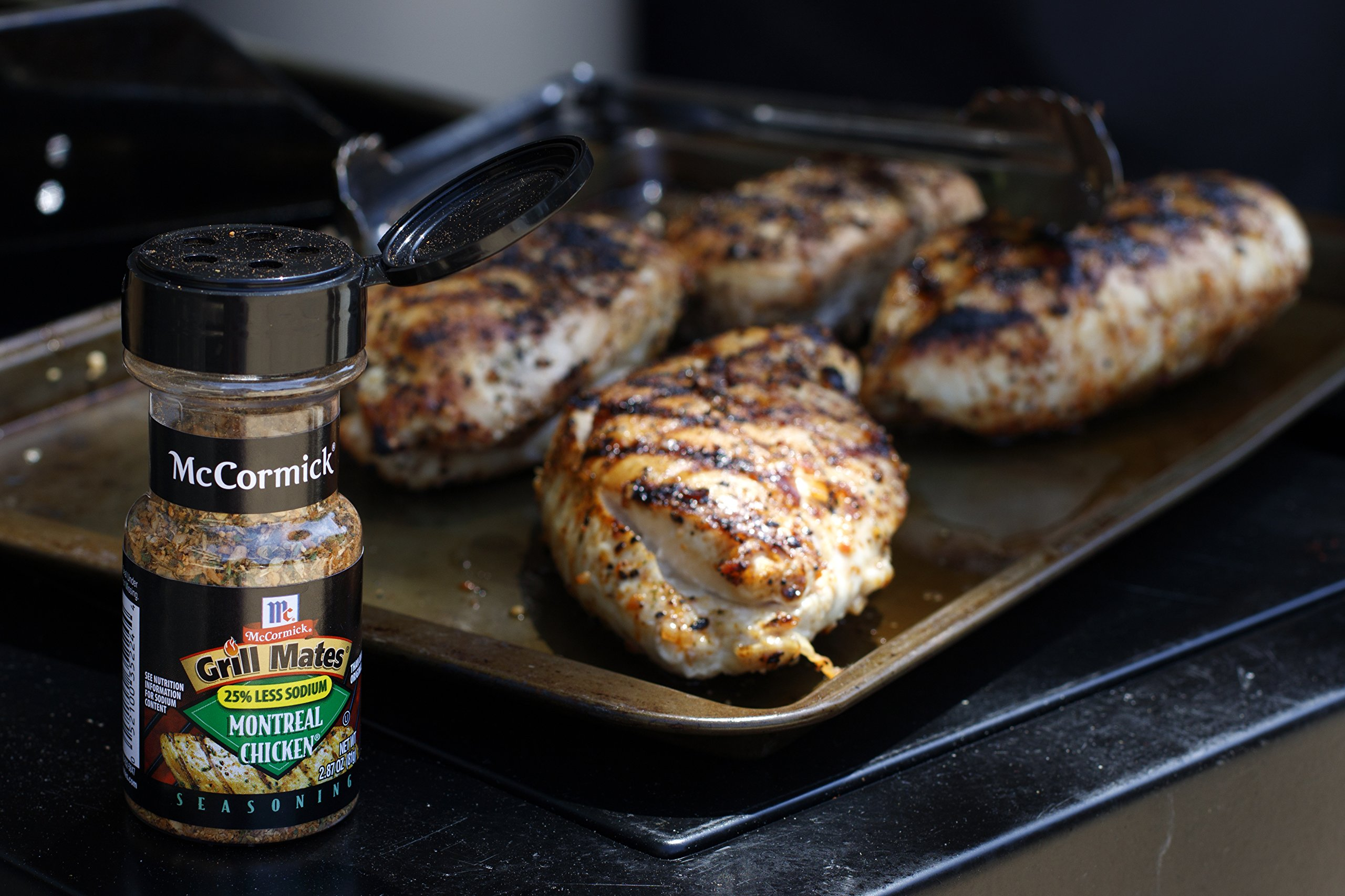 McCormick Grill Mates Brown Sugar Bourbon Seasoning, 13.5 oz 5 Distinctive sweet and spicy blend of brown sugar, bourbon, garlic, onion and salt PREP TIP: Just add 1 tbsp. of our Brown Sugar Bourbon Seasoning per 1 lb. of meat for a juicy, mouthwatering meal No MSG or artificial flavors added