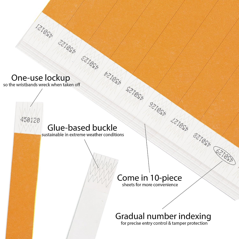 nastri di controllo in tyvek Confezione da 1000 pezzi viola Cintapunto/® tiranti in tyvek 3//4 bracciali in tyvek 19 mm bracciali in tyvek Festival