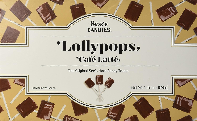 Amazon.com : See's Candies 1 lb. 5 oz. Cafe Latte Lollypops ...