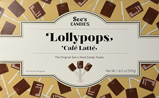 Sees Candies 1 lb. 5 oz. Cafe Latte Lollypops
